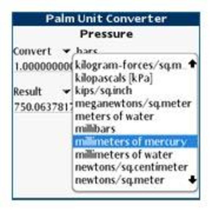 Palm Unit Converter