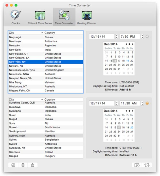 World Clock Deluxe for Mac - Download