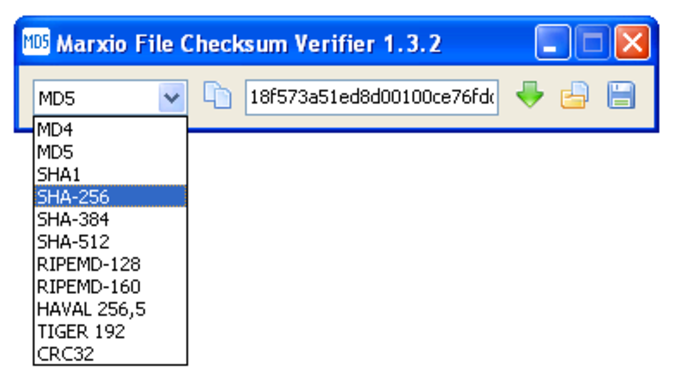 Marxio File Checksum Verifier Portable