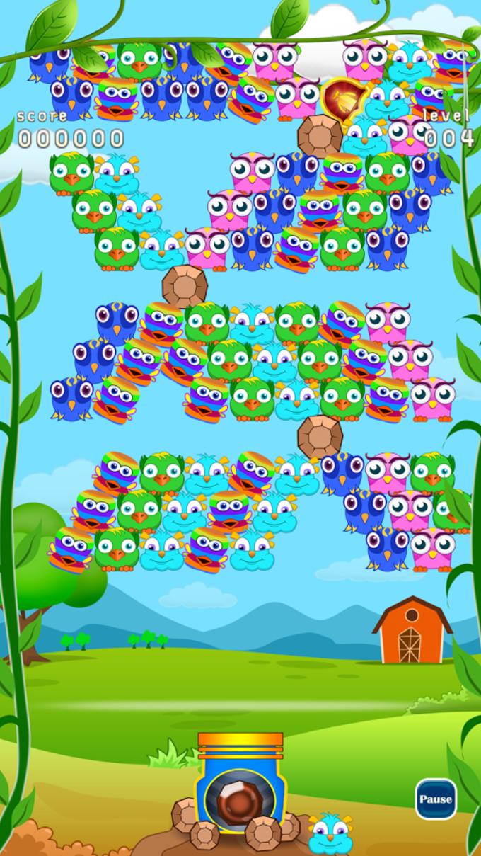 Birds Bubble Garden