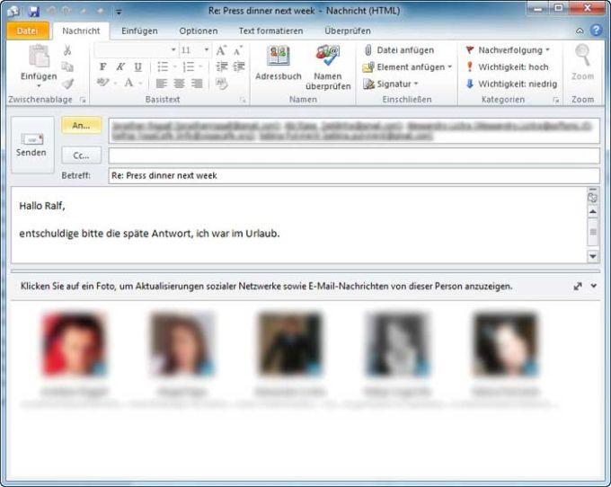 Outlook Social Connector