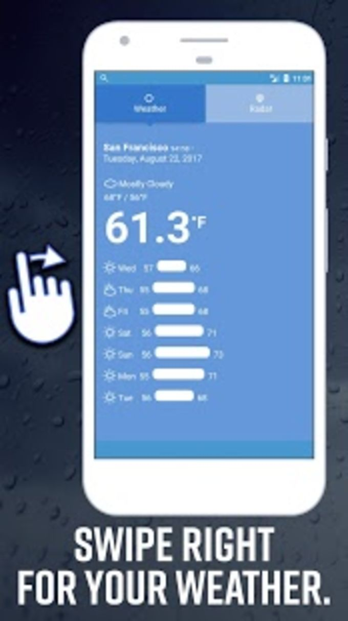 Daily Weather Home  Radar  Forecast Launcher