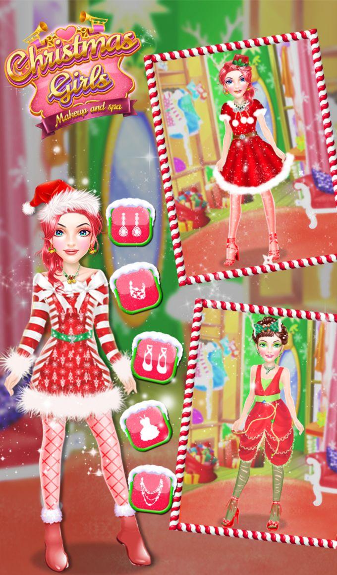 Christmas Girls Makeup And Spa