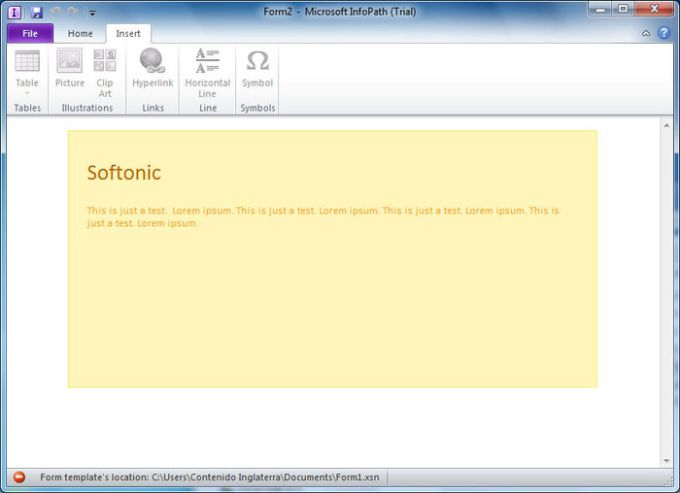 how to create hyperlink that open infopath client software a k a