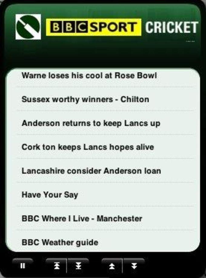 BBC Cricket Widget