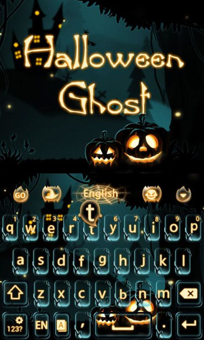 Halloween Ghost Keyboard Theme