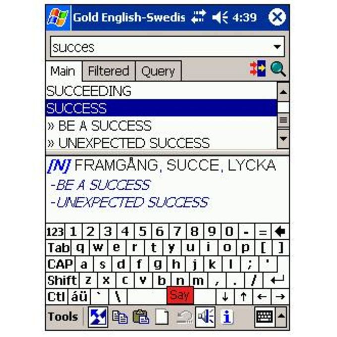 LingvoSoft Free Talking Dictionary English-Swedish-English
