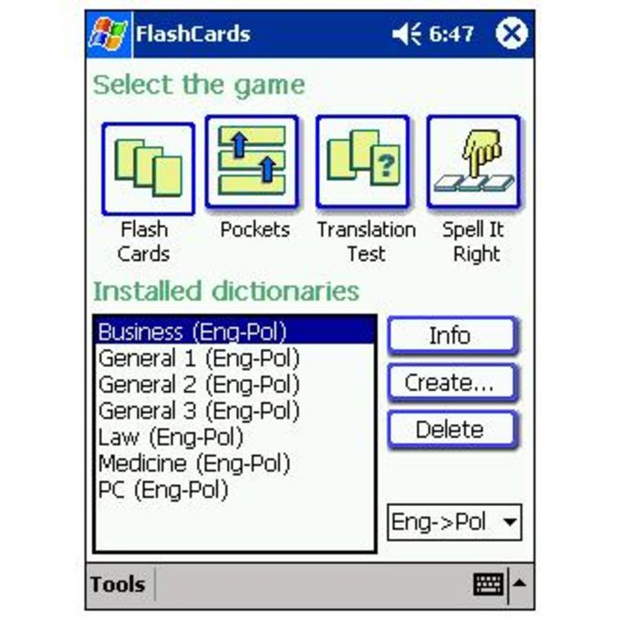 LingvoSoft FlashCards English-Polish-English