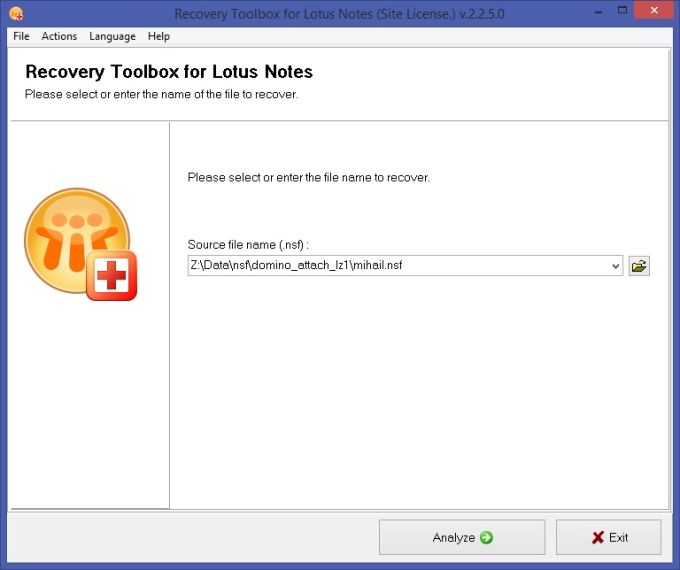 Recovery Toolbox for Lotus Notes