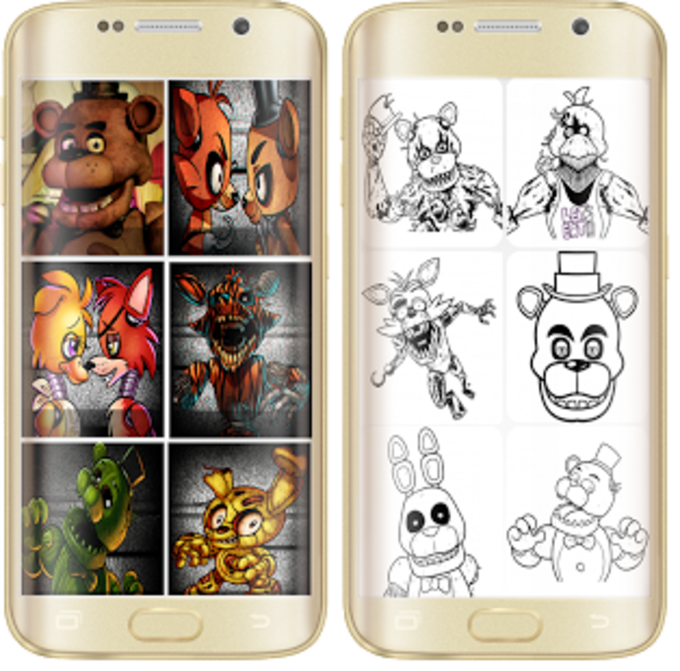 Coloring Game Drawing for FNAF