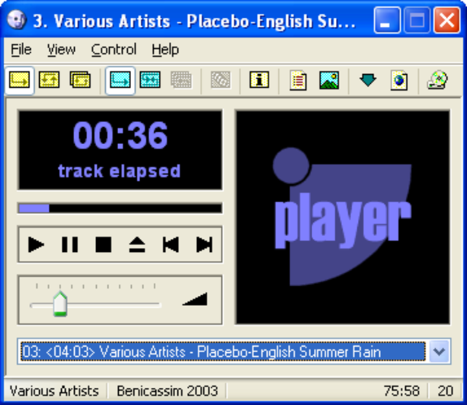 VUPlayer CD Player
