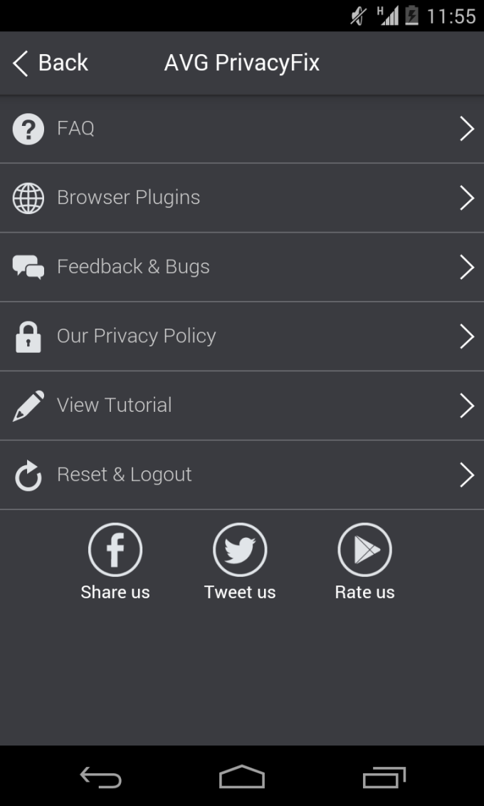 AVG Privacy Fix