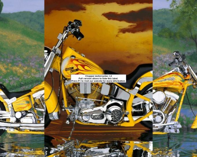 Chopper motorcycles screensaver