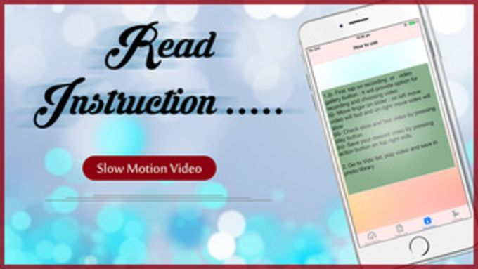 Slow Motion Video Maker - Make slow motion videos or fast motion videos now