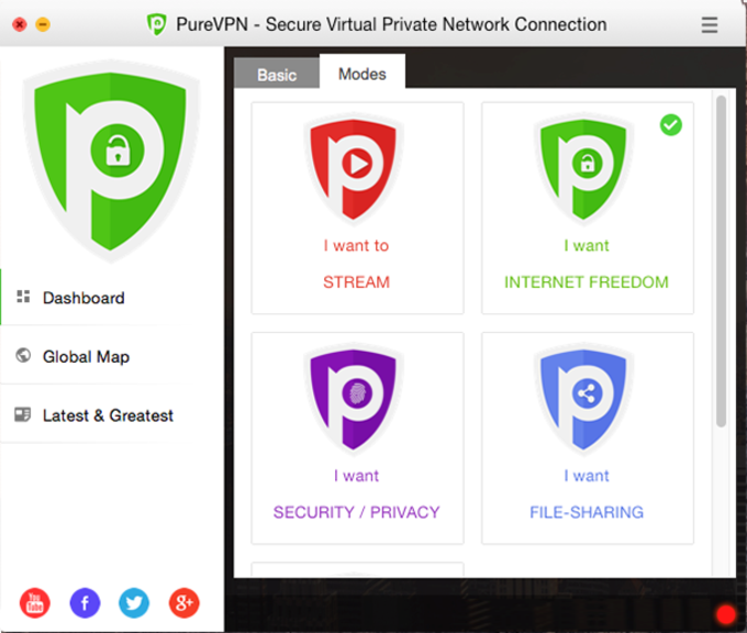 PureVPN VPN Software for Mac