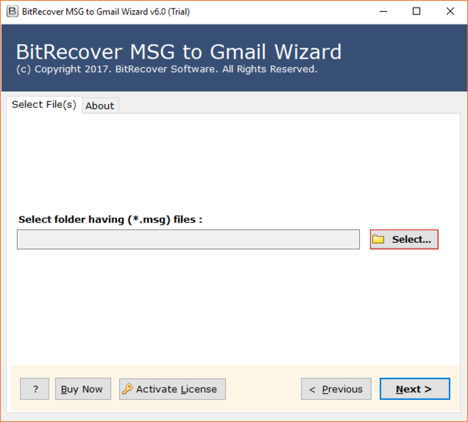 MSG to Gmail Wizard
