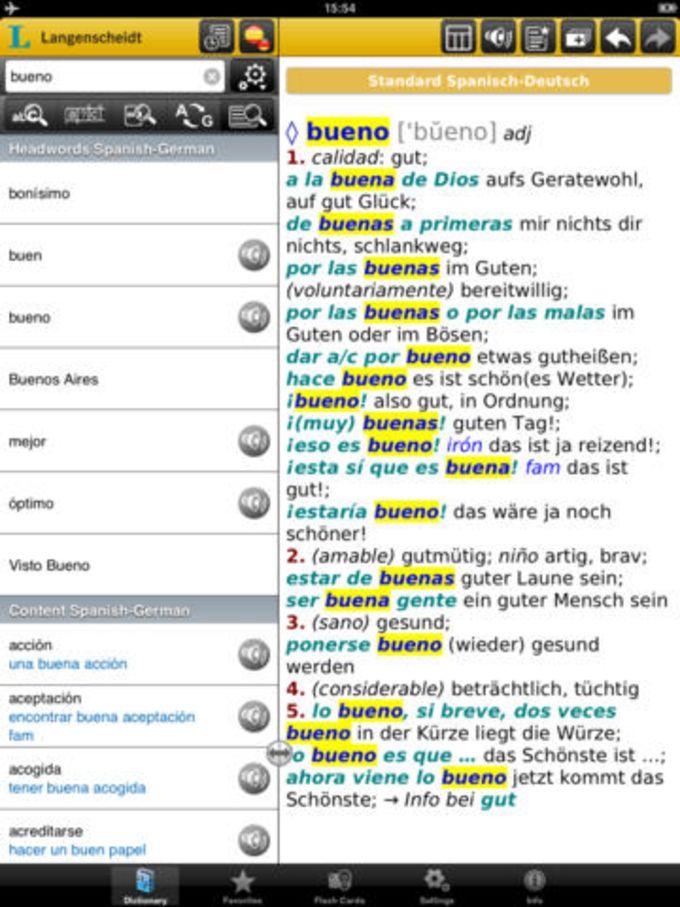 Alemán <-> Español Diccionario Estándar con Audio