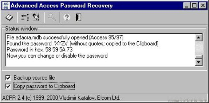 Advanced Access Password Recovery