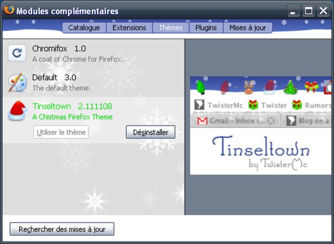 Tinseltown Firefox Theme