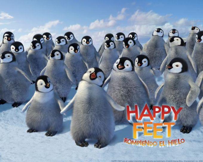 Fondo de pantalla de Happy feet: Rompiendo el hielo