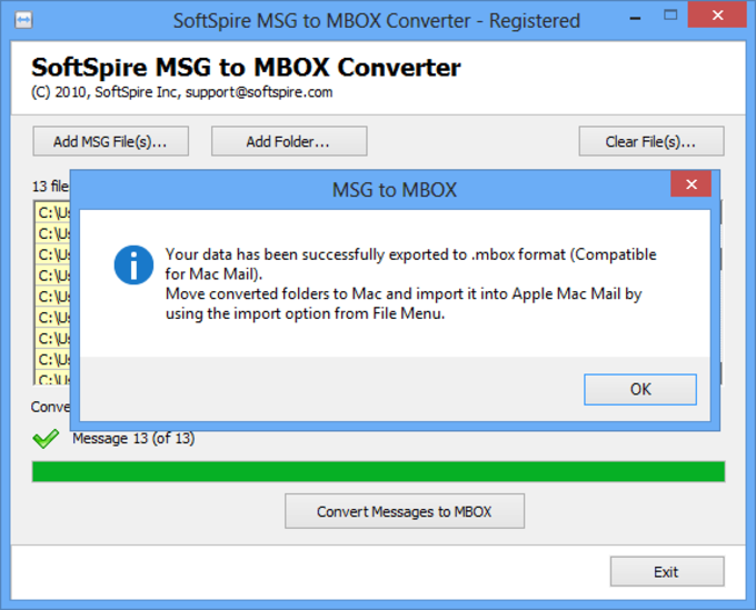 MSG to MBOX Converter
