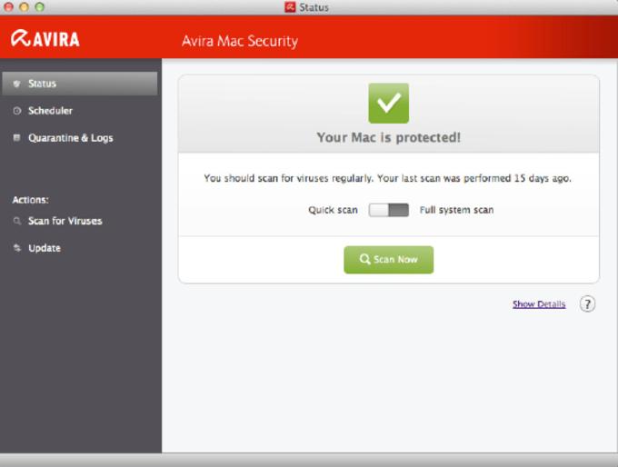 Avira Free Antivirus für Mac