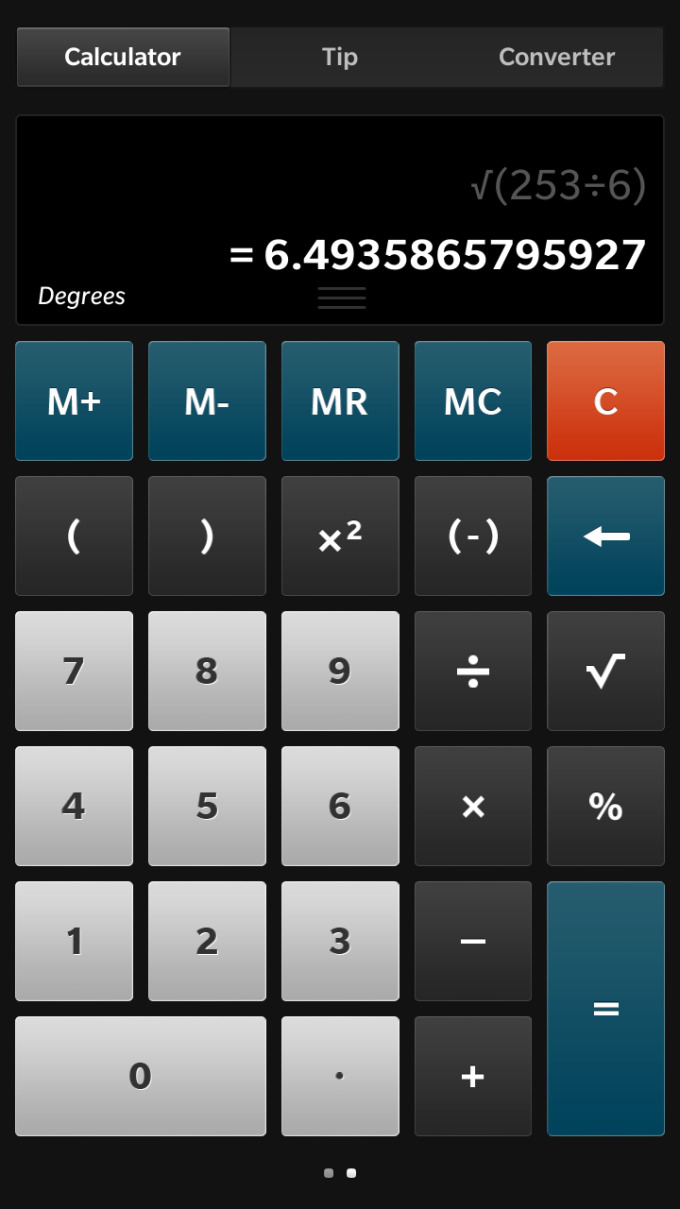 BlackBerry Calculator