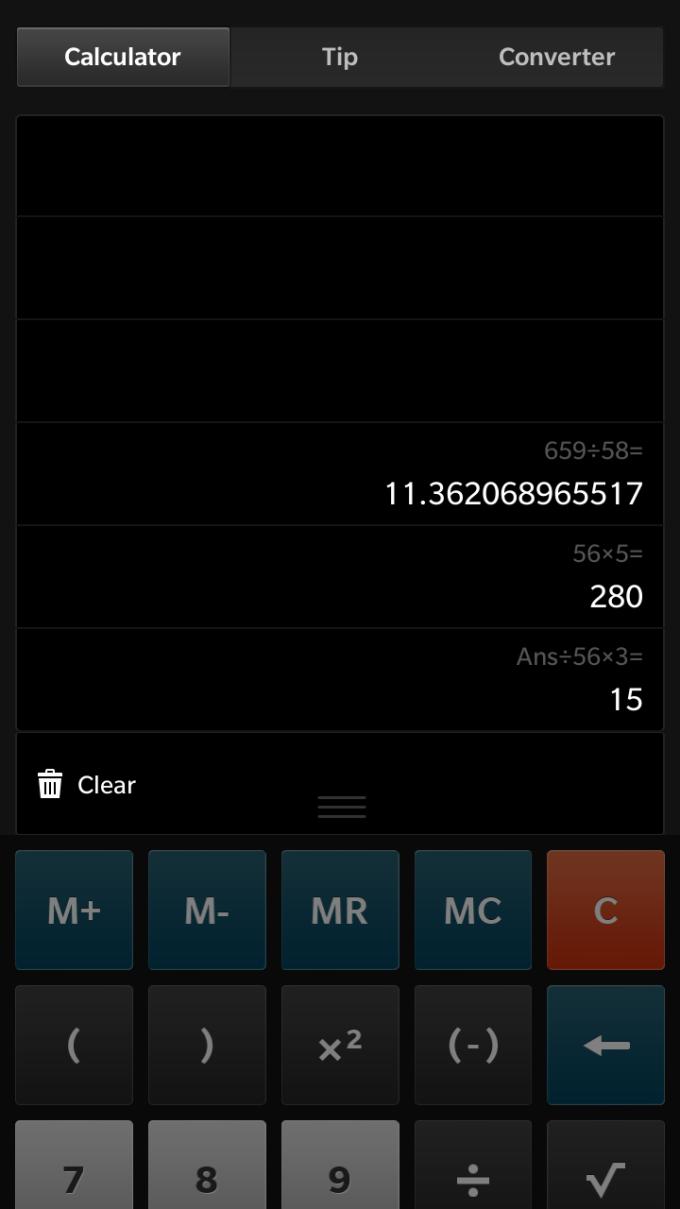BlackBerry Calculator