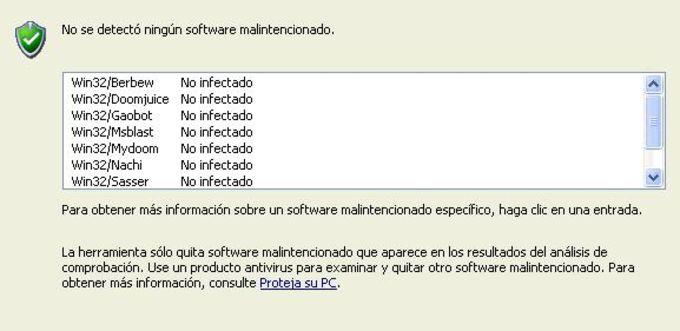 Herramienta de eliminación de software malintencionado