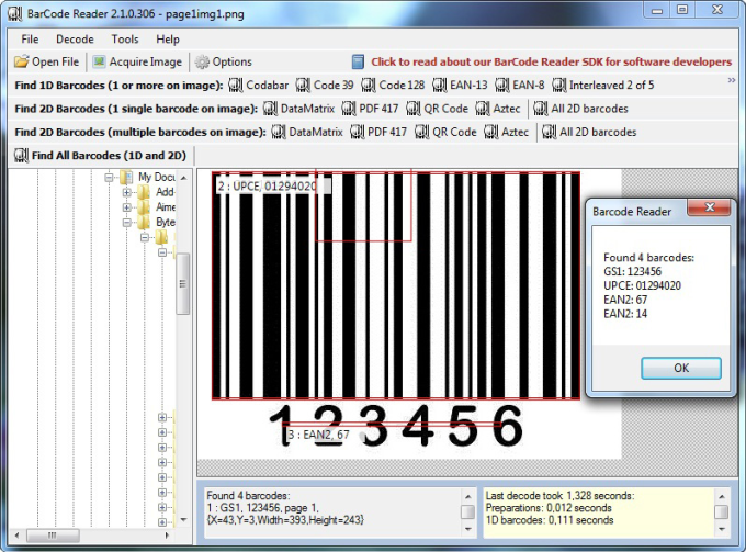 Bytescout BarCode Reader SDK