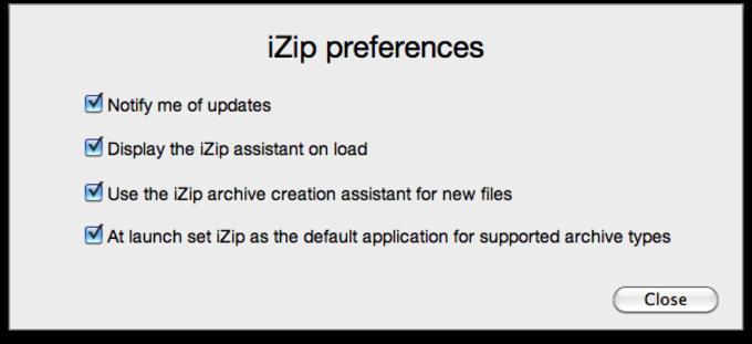 Préférences iZip