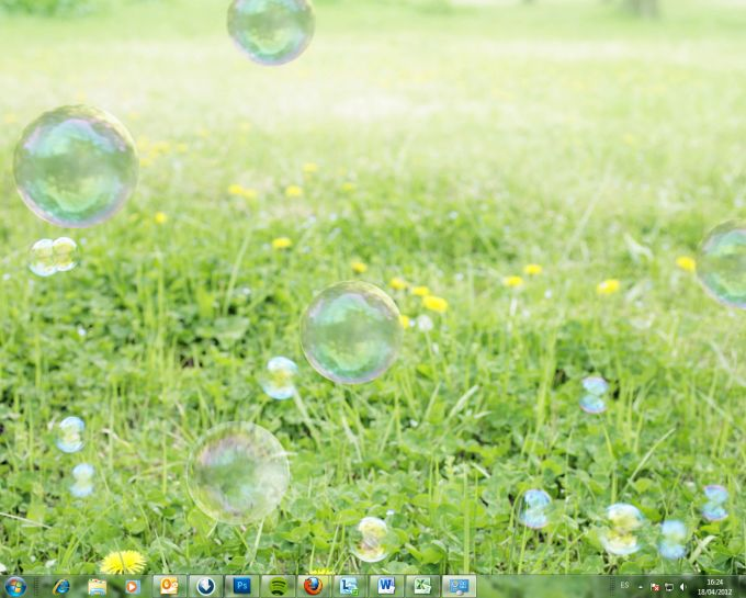 Bubbles theme
