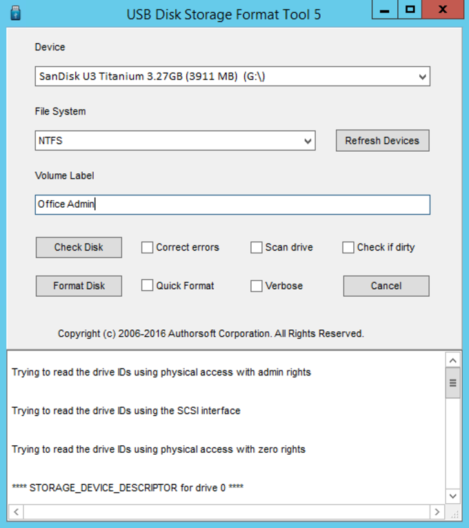 formatting download