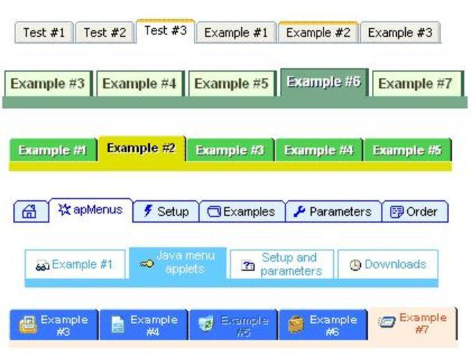 Apycom Java Menus and Buttons