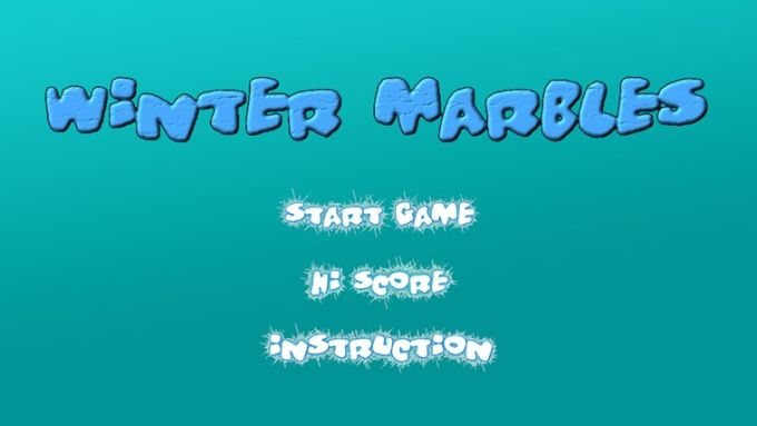 Winter marbles for Windows 10