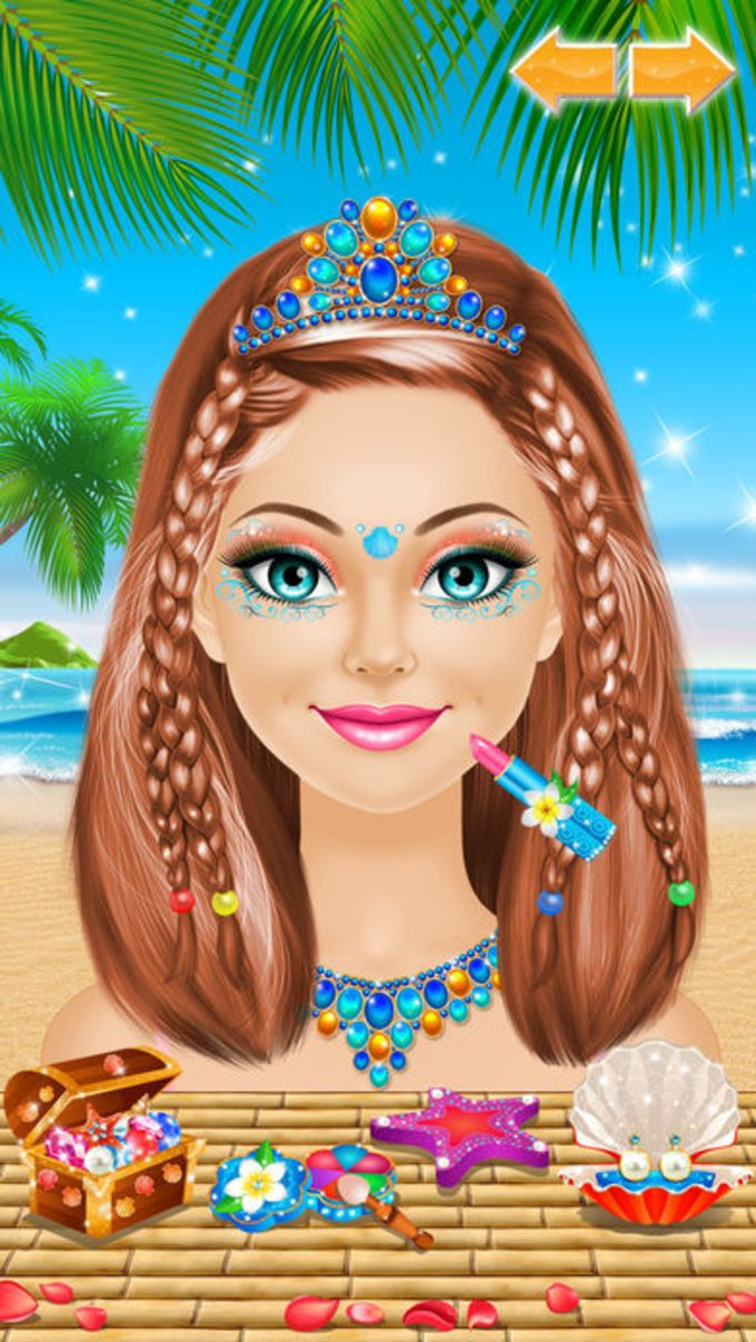 Tropical Princess - Makeup and Dressup Salon Game
