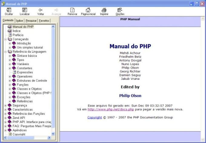 Manual do PHP
