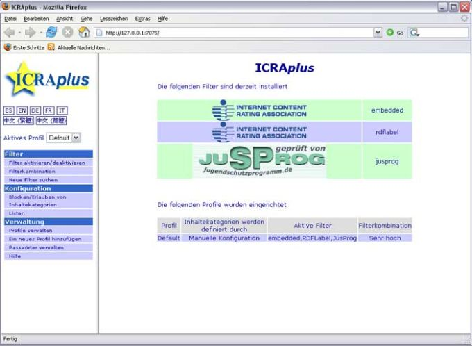 ICRAplus/JusProg-Filter