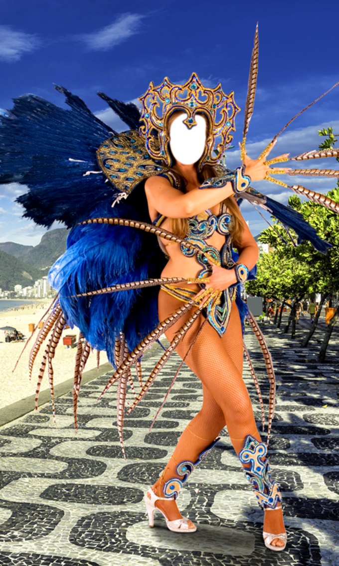 Woman Carnival Photo Montage