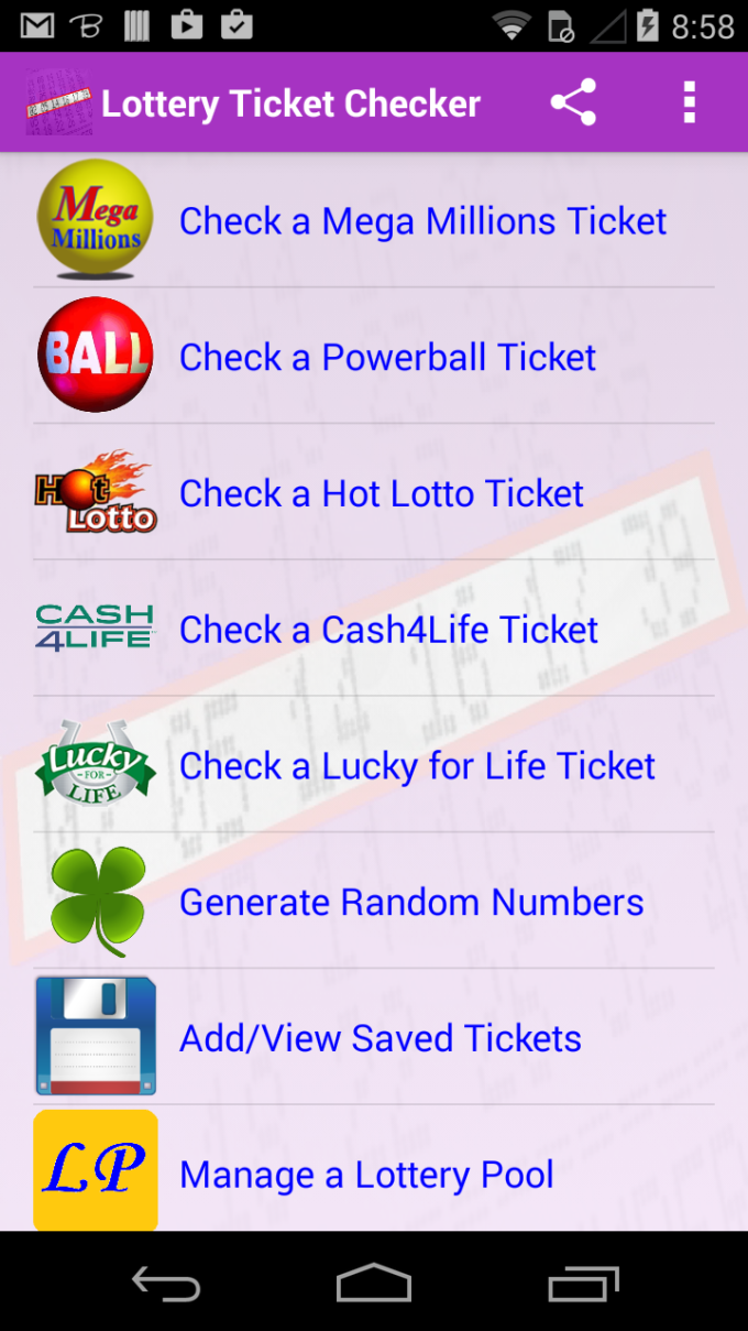 Lottery Ticket Checker