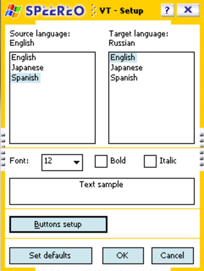 Speereo Voice Translator WM Touchscreen