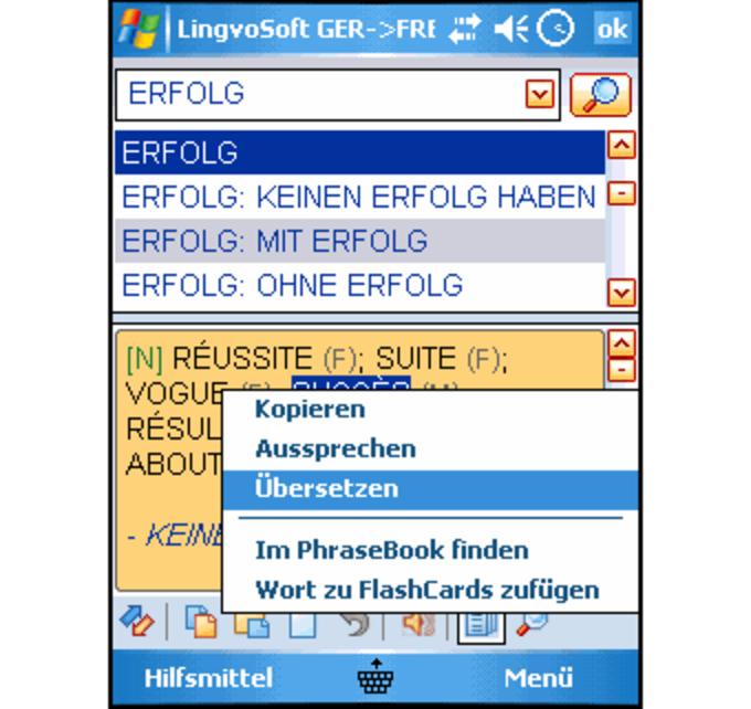 lingvosoft dictionary deutsch franz sisch f r pocket pc download. Black Bedroom Furniture Sets. Home Design Ideas