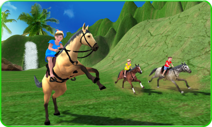 Kids Mountain Horse Rider Race