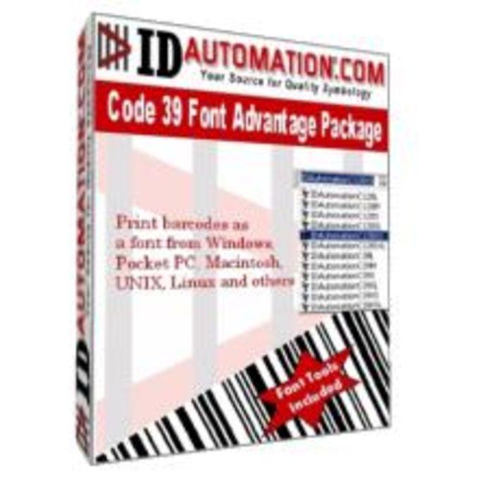 IDAutomation Code 39 Barcode Fonts