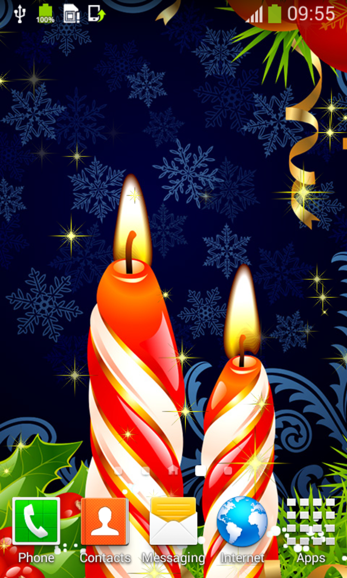 Xmas Candles Live Wallpapers