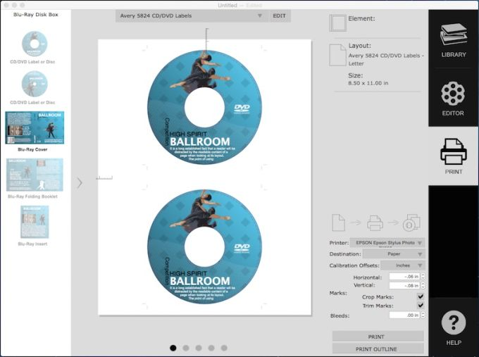 how to make a cd cover on mac