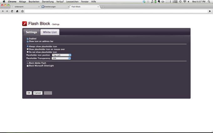 Flashblock for Chrome
