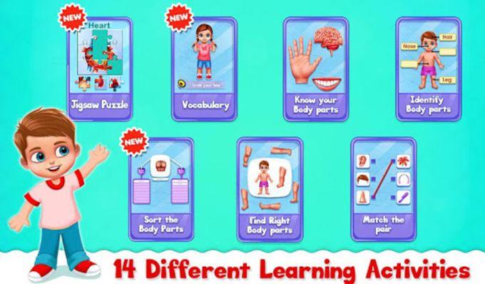 Human Body Parts - Preschool Kids Learning