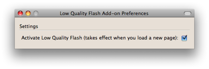 Low Quality Flash