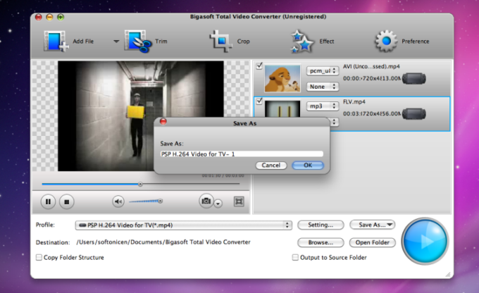 Bigasoft Total Video Converter for Mac